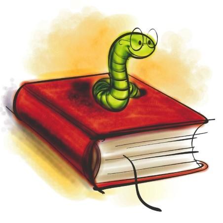 edible book - bookworm