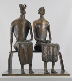 King and Queen 1952-3, cast 1957 by Henry Moore OM, CH 1898-1986