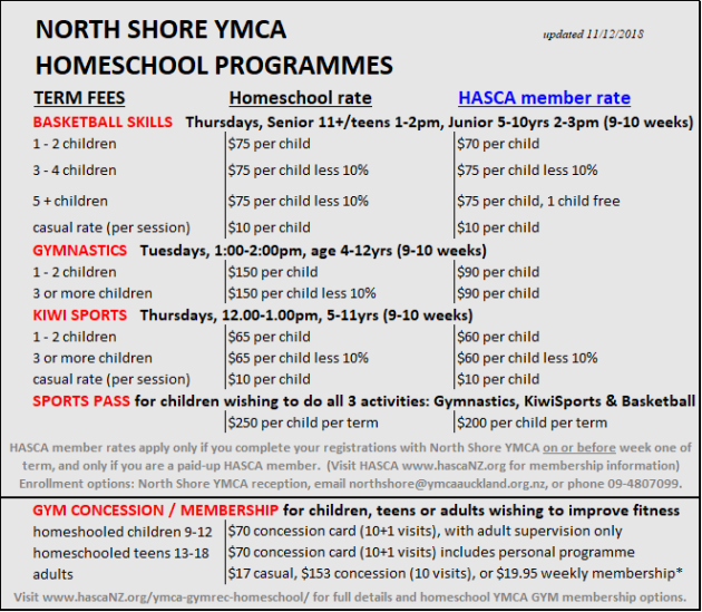 YMCA RATES dec2018